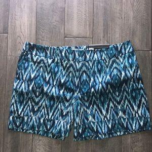 NEW Apt 9 Aztec Blue Shorts 14